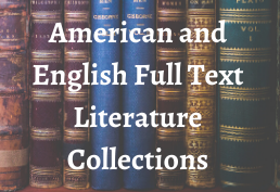 American and English Full Text Literature Collections
